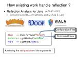 reflection analysis for java4