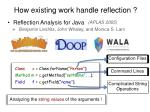 reflection analysis for java5