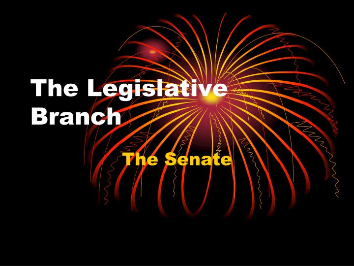 the legislative branch n.