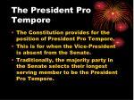 the president pro tempore