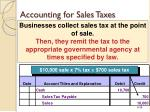 accounting for sales taxes