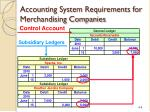 accounting system requirements for merchandising companies