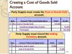 creating a cost of goods sold account