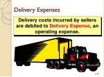 delivery expenses