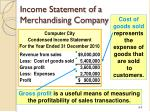 income statement of a merchandising company