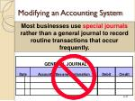 modifying an accounting system