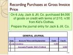 recording purchases at gross invoice price