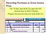 recording purchases at gross invoice price1