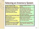 selecting an inventory system