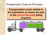 transportation costs on purchases