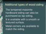 additional types of wood siding