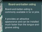 board and batten siding