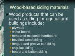 wood based siding materials