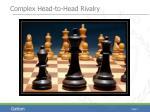 complex head to head rivalry