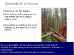detectability of actions1