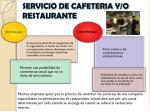 servicio de cafeteria y o restaurante