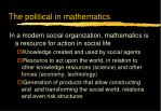 the political in mathematics