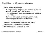 a brief history of c programming language