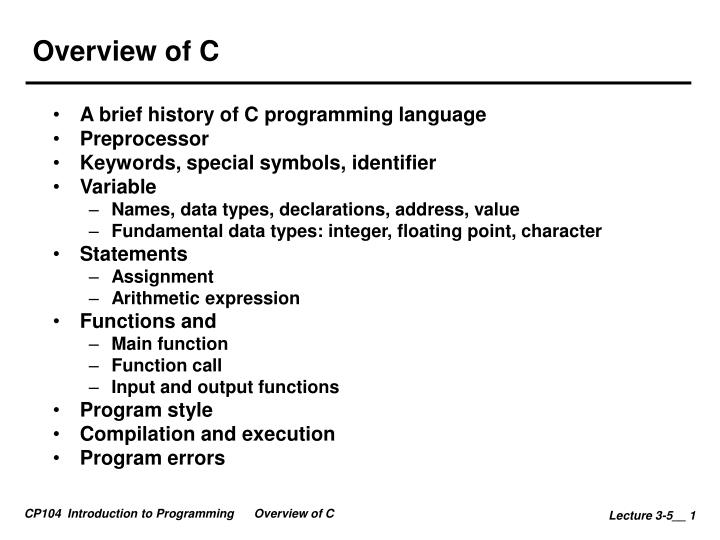 overview of c n.