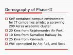 demography of phase ii