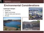 environmental considerations1