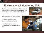 environmental monitoring unit