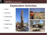 exploration activities