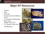 major nt resources