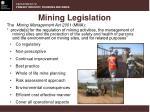 mining legislation