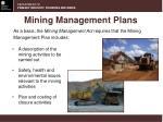 mining management plans