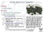 ncsa resource updates
