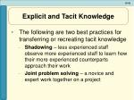 explicit and tacit knowledge1