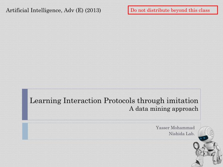 learning interaction protocols through imitation a data mining approach n.