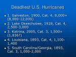 deadliest u s hurricanes