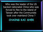 chaing kai shek
