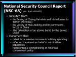 national security council report nsc 68 am spirit 418 425