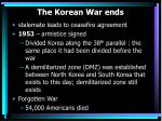 the korean war ends