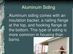 aluminum siding