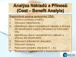anal za n klad a p nos cost benefit analyis1