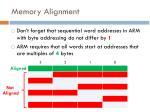 memory alignment