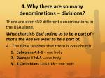 4 why there are so many denominations divisions