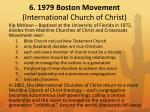 6 1979 boston movement international church of christ