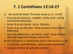 7 1 corinthians 12 14 27