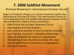 7 2006 soldout movement portland movement international christian church