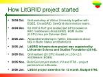 how litgrid project started