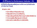performance indicator pi1