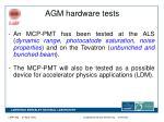 agm hardware tests