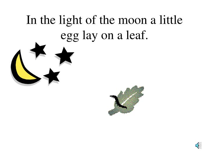 in the light of the moon a little egg lay on a leaf n.