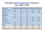principales pa ses receptores de emigrantes entre 1821 y 1940
