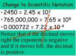 change to scientific notation2